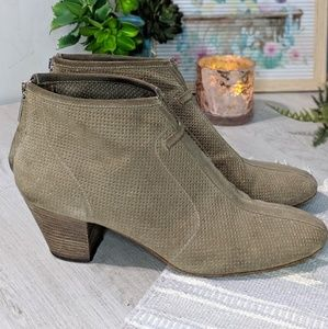 Aquatalia Xcellent Perforated Ankle Boots